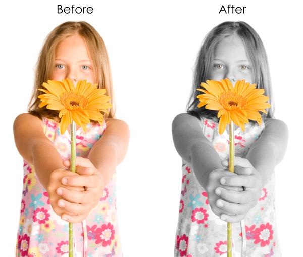 Color Splash Using Photoshop History Brush