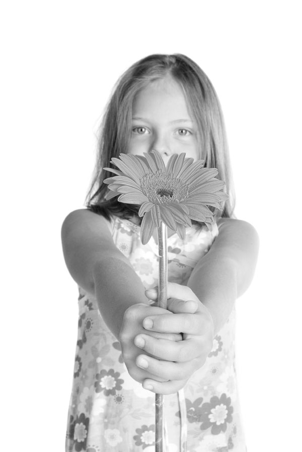 Desaturated Flower Girl in Photoshop