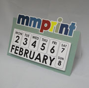 Custom Die cut Desk Calendar