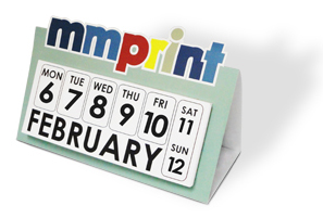 Die Cut Desk Calendar
