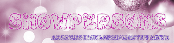 Snowpersons Free Font for Commercial Use