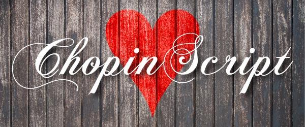 Free Valentine Font ChopinScript