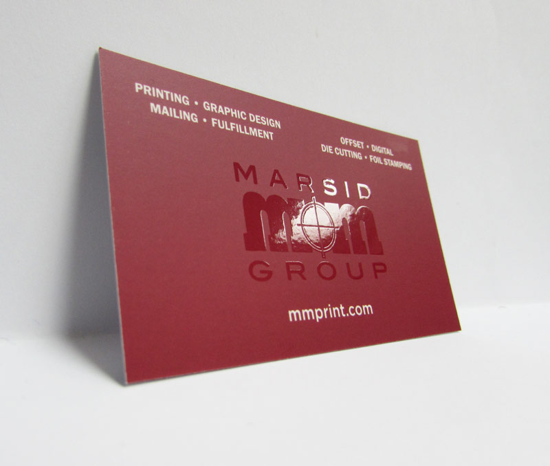 16 pt silk business cards with spot UV Coating