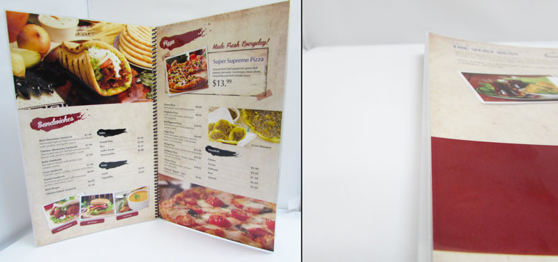 Edge Sealed Lamination Menu Books | mmprint.com