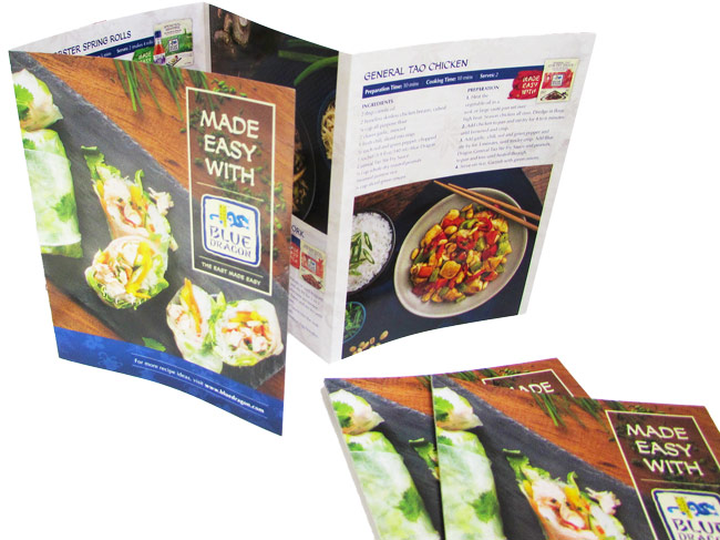 Pocket menu printing for