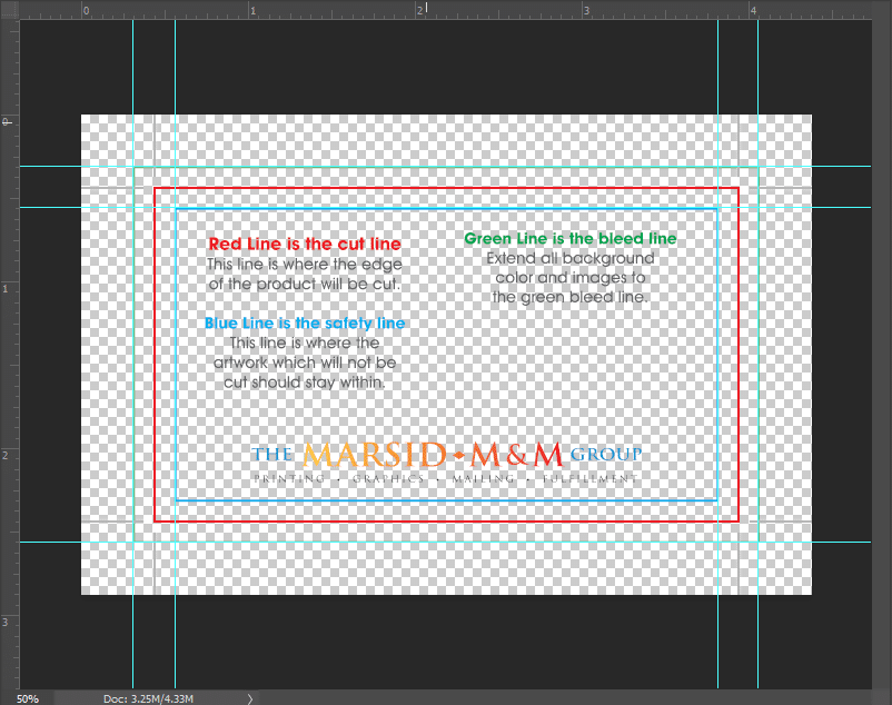 Photoshop Guides Business Card Design | MMPrint.com