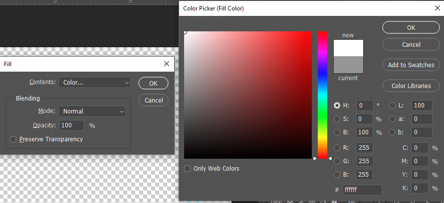 Photoshop Color Picker Fill Shape | MMPrint.com