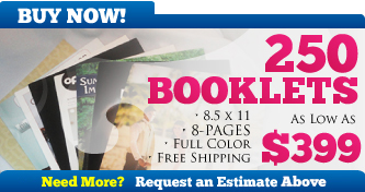 250 Booklets for $399 - BUY NOW!