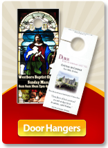 Church and Religious Organization Doorhanger Printing