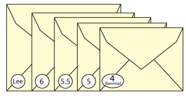 Baronial Envelope Sizes