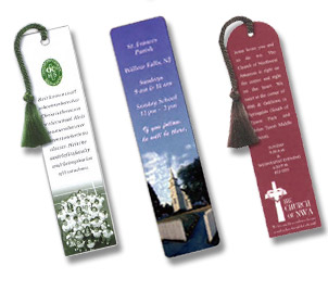 one to full color bookmark and page mark printing