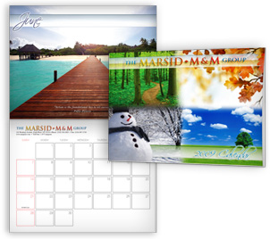 Custom printed phot calendars with your own design