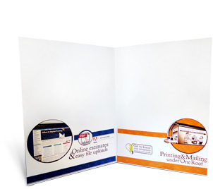 one to full color pocket folder and page mark printing
