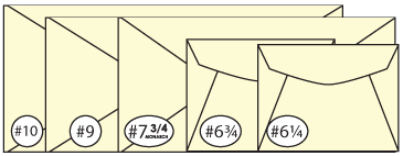 Correspondence Business Regular Envelope Sizes