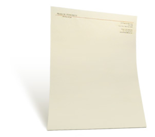 one to four color thermography letterhead
