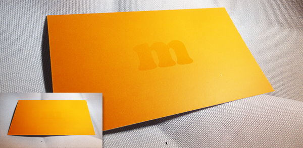 Spot UV Coating Business Card - Ghost Effect