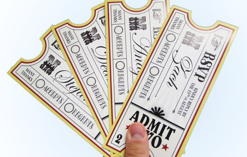 Variable Printed Event Tickets