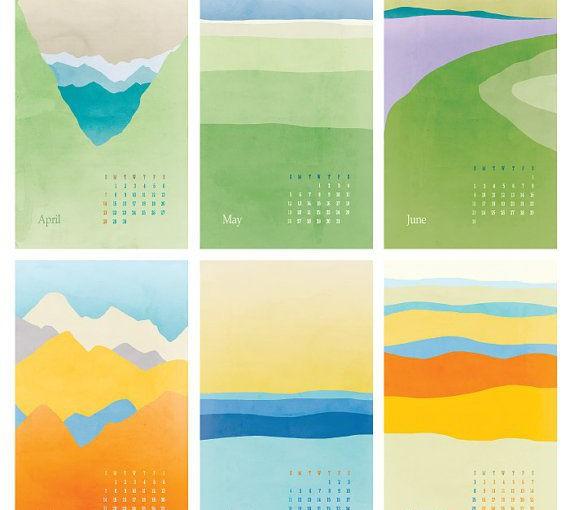 full spread artwork calendars